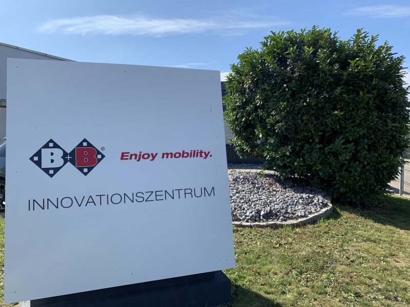 Schild B+B Innovationscenter